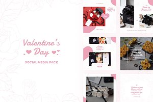 Valentine's Day Social Media Pack
