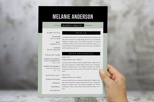 3 in 1 modern 2 pages resume pack