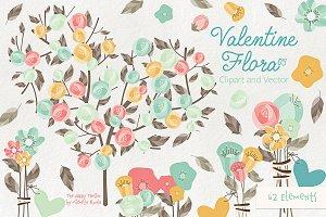 Valentine Flora 03 Clipart & Vectors