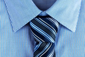 Closeup of necktie