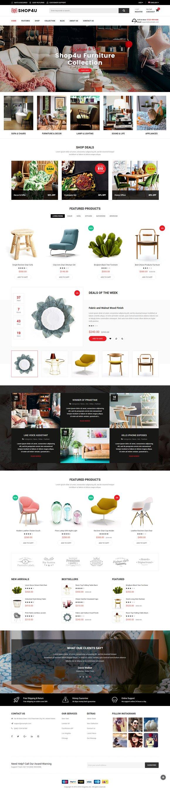 SM Shop4U Magento 2 Theme