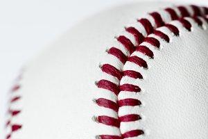 Closeup of baseball