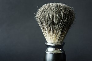 Closeup of shaving brush