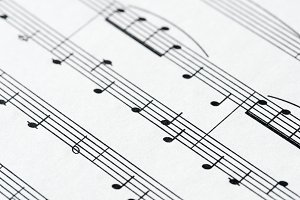 Closeup of musical sheet