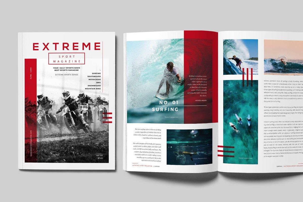 Sports Magazine Magazine Templates Creative Market