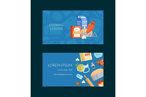 Vector business card template for cooking