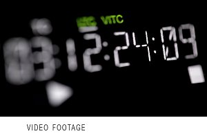 Timecode running on the professional