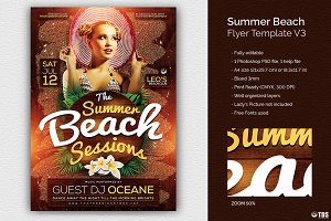 Summer Beach Flyer Template V3
