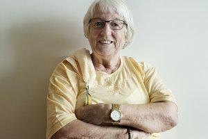 Senior woman arms crossed