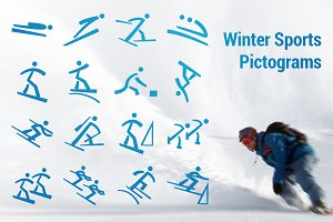 Winter Olympic Pictograms Font