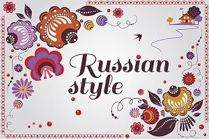Russian style Floral Set