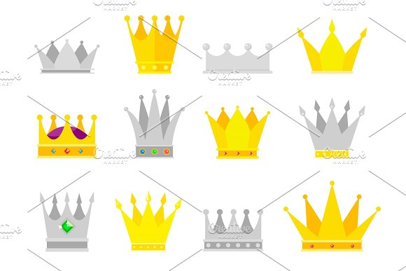 Collection Of Crown Awards For Winners Champions Leadership
