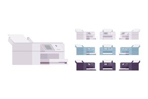 Office laser printer set