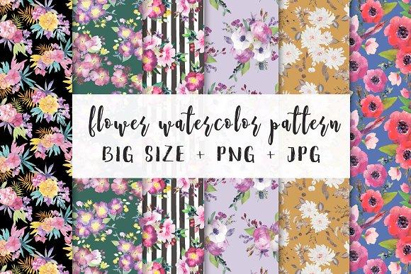 flower watercolor pattern