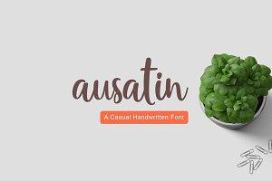Ausatin Handmade Font