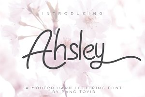 Ahsley - Beautiful Font