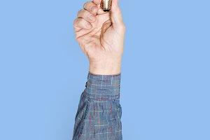 Hand holding bulb (PSD)