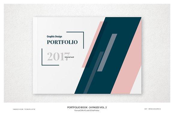 portfolio book 24 pages v 2 brochure templates creative market
