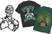 Boxer T-shirts And Poster Labels