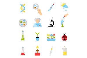 Flat design vector illustration concepts of education and science.