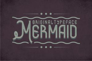 Mermaid Vintage Label Typeface