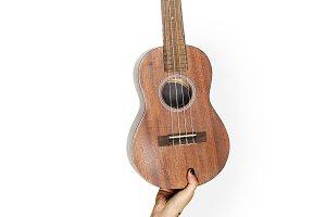 Hand holding guitar (PSD)