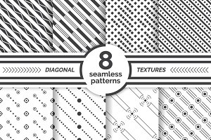 Diagonal seamless patterns