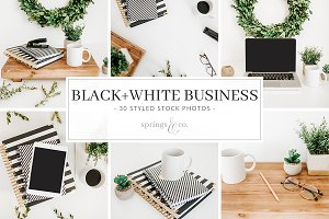 Black+White Business Stock Photos