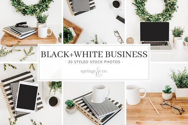 Black+White Business Stock Photos