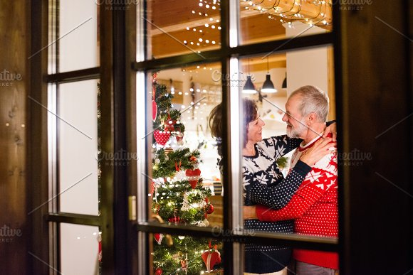 Senior Couple At Christmas Time