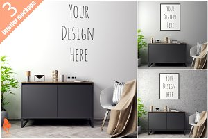 1-Mockup Poster with various frames
