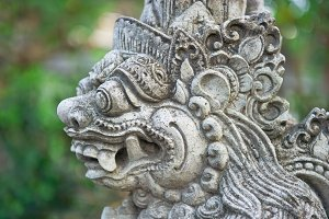 Bali. Traditional balinese statue