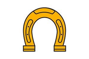 Horseshoe color icon