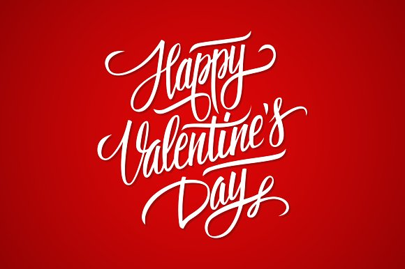 Happy Valentine S Day Lettering Graphics Creative Market