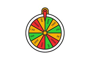 Wheel of fortune color icon