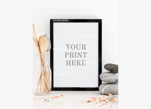 A4 Print Mock Up Black Frame A5 A3