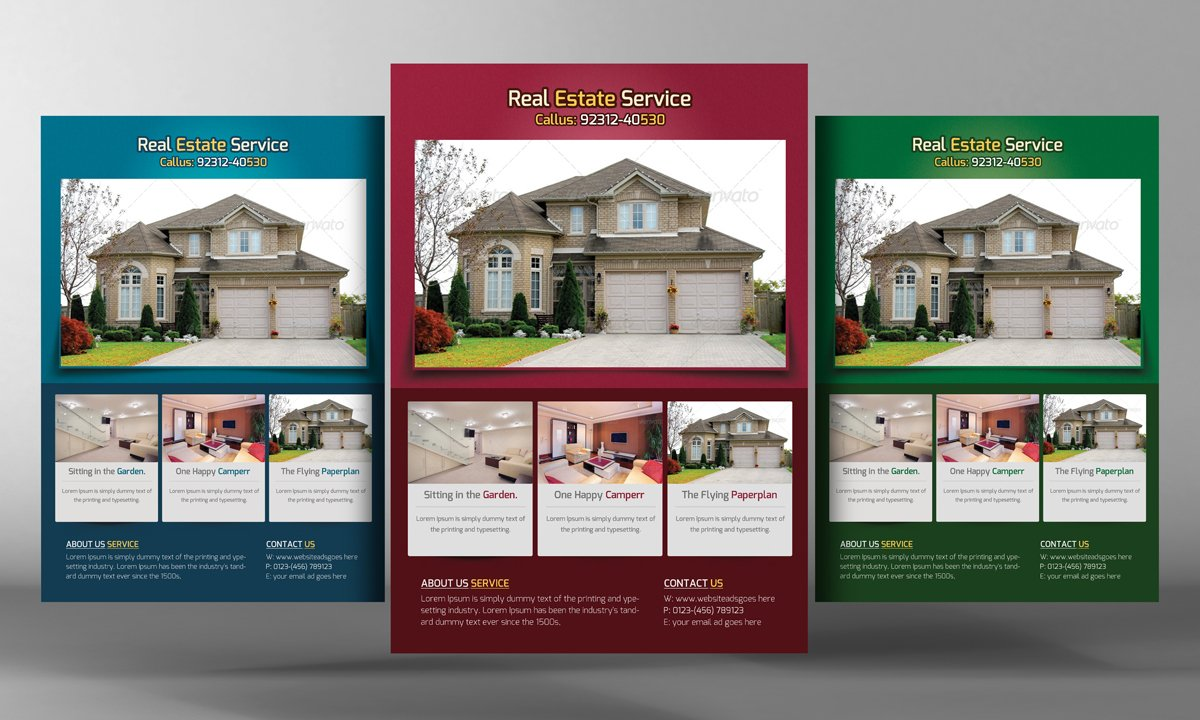 Real Estate Flyer Flyer Templates Creative Market - Real estate brochure template free download