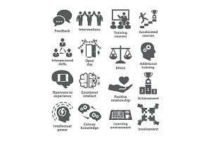 Business management icons Pack 34