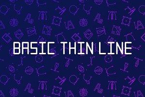 Basic Thin Line Font
