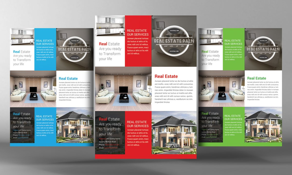 Real Estate Flyer Flyer Templates Creative Market