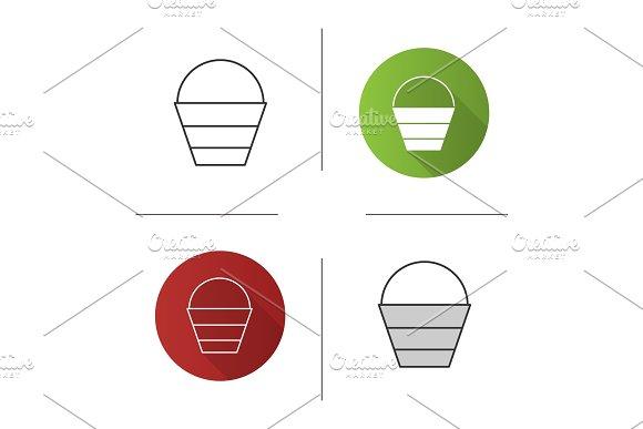Bucket Icons Set