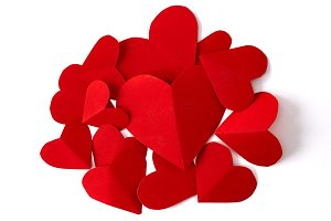 14th Valentine`s day hearts