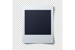 Collection of blank photo frames vector illustration
