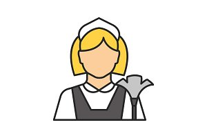 Maid color icon