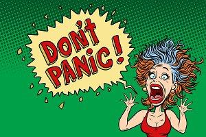 panic funny woman