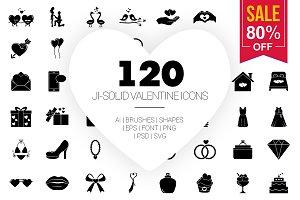 Valentine Glyph Vector Icons