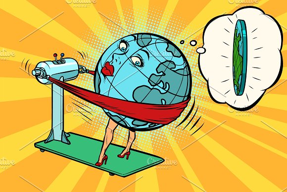 Fat wants to lose weight, character planet Earth