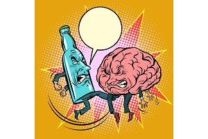 Alcohol versus intelligence, a bottle of beat the brain