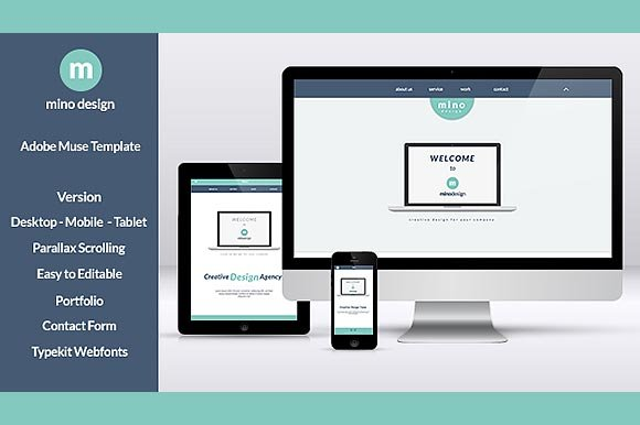 Mino - Muse / Html One Page Template