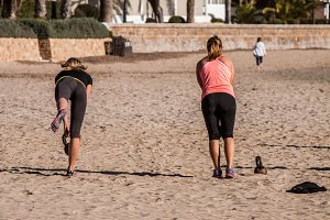 fitness in the beach